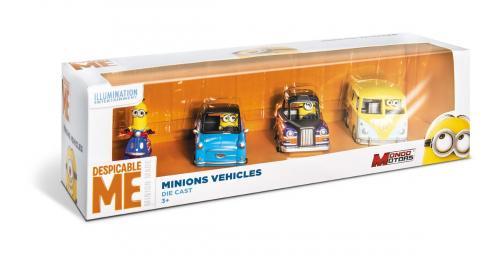Minions- set 4 vehicule - Jucarii copilasi - Avioane jucarie