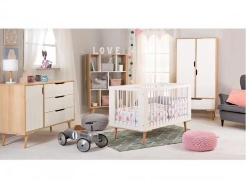 Mobilier Camera Copii Si Bebelusi KLUPS SOFIE Alb Natur(Comanda speciala Livrare 3-4 saptamani) - Camera bebelusului - Mobilier bebe