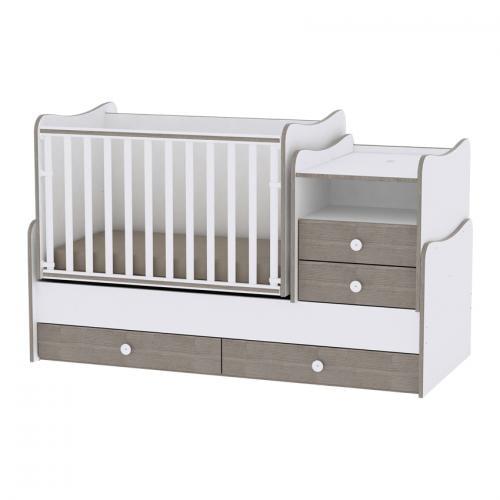 Mobilier combo - white & coffee - Camera bebelusului - Mobilier bebe