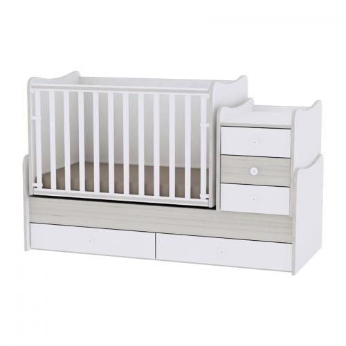 Mobilier maxi plus new - white & light oak - Camera bebelusului - Mobilier bebe