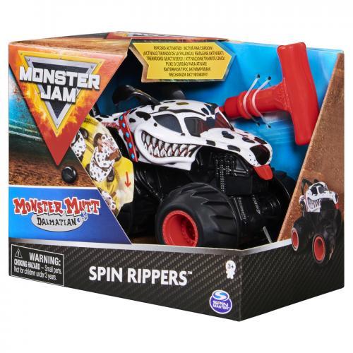 Monster jam dalmatianul mutt seria spin rippers scara 1 la 43 - Jucarii copilasi - Avioane jucarie