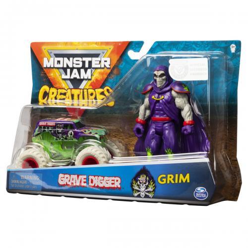 Monster jam macheta groparul si grim - Jucarii copilasi - Avioane jucarie