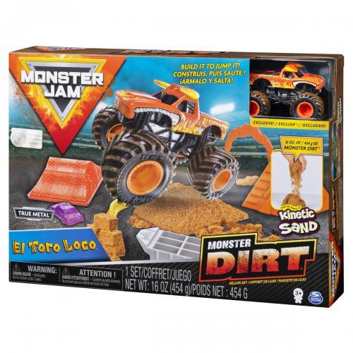 Monster jam set camioneta cu nisip si accesorii el toro loco - Jucarii copilasi - Avioane jucarie