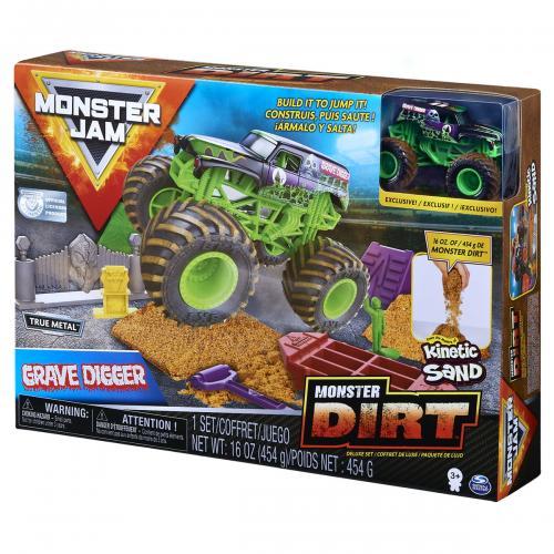 Monster jam set camioneta cu nisip si accesorii grave digger - Jucarii copilasi - Avioane jucarie