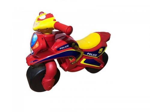 Motocicleta de impins MyKids Police Music 0139/56 Rosu Galben - Plimbare bebe - Masinute fara pedale
