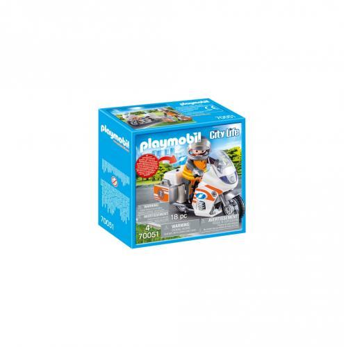 Motocicleta De Urgenta Cu Lumini - Jucarii Playmobil -