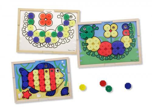 Mozaic Din Lemn Cu Culori Melissa And Doug - Jucarii copilasi - Arta indemanare