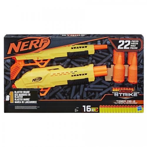 Nerf alpha strike set 2 blastere tiger db2 cu tinte - Jucarii copilasi - Pusti si pistoale