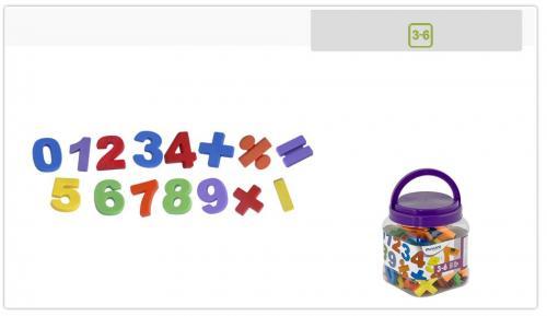 Numere Magnetice Mari Miniland 68 Piese - Jocuri pentru copii - Jocuri magnetice