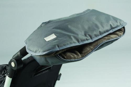 Nuvita Handmuff Dark grey - Manusi pentru carucior 9307 - Carucior bebe - Accesorii carut