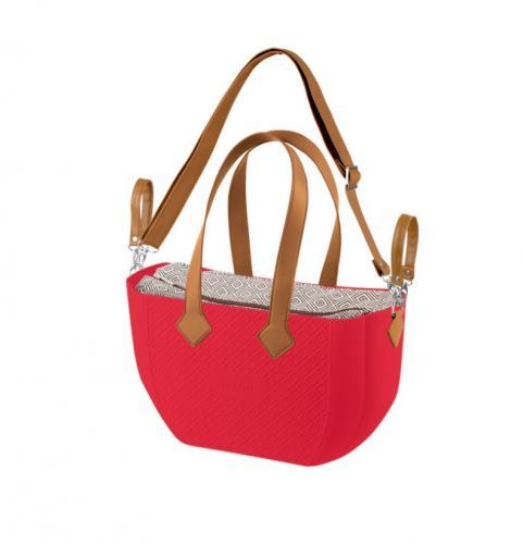 Nuvita Mymia Geanta pentru mamici - Crimson Rhombo Camel + curea pentru geanta - Plimbare bebe - Genti carucioar