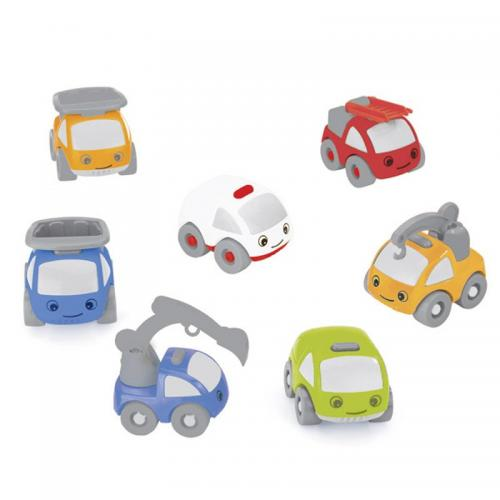 Pachet 7 masinute din plastic pentru circuit - Jucarii copilasi - Avioane jucarie