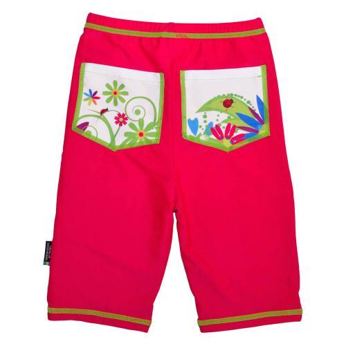 Pantaloni de baie Flowers marime 122-128 protectie UV Swimpy - Echipament inot -