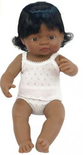 Papusa Baby Hispanic Fata Miniland 40cm - Papusi ieftine -
