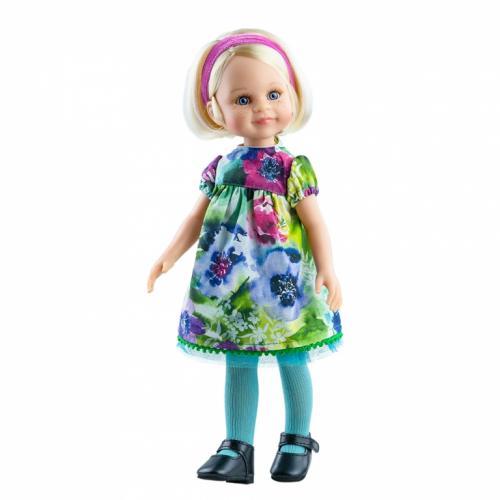 Papusa BARBARA in rochie cu flori viu colorate - Amigas - Paola Reina - Papusi ieftine -