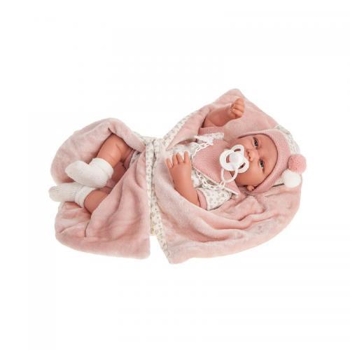 Papusa bebe realist Carla cu plapumioara - 40 cm Antonio Juan - Papusi ieftine -