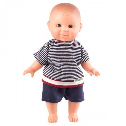 Papusa bebelus fericit cu aroma de vanilie Biel - Papusi ieftine -