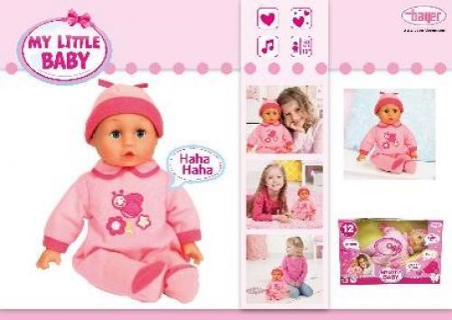 Papusa bebelus My little baby roz - Papusi ieftine -