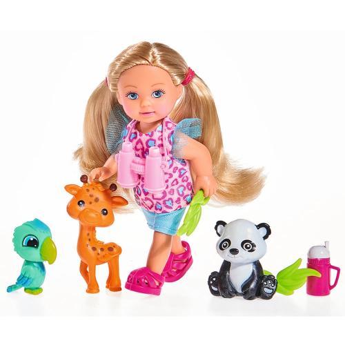 Papusa Simba Evi Love 12 cm Baby Safari cu figurine si accesorii - Papusi ieftine -