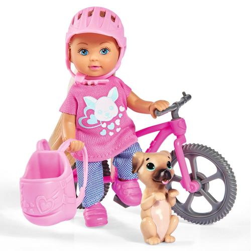 Papusa Simba Evi Love Holiday Bike 12 cm - Papusi ieftine -