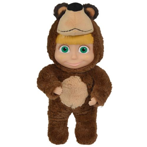 Papusa Simba Masha and the Bear 2 in 1 Masha 25 cm in costum de urs - Papusi ieftine -