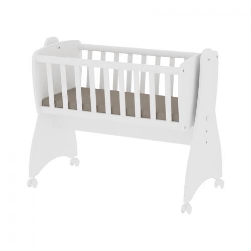 Pat balansoar - first dreams - 105x55x83 cm - transformabil - white - Camera bebelusului - Mobilier bebe