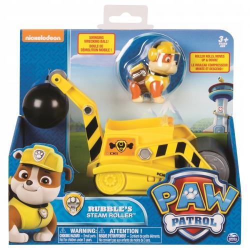 Patrula catelusilor figurina cu autovehicul buldozerul lui rubble - Jucarii copilasi - Figurine pop