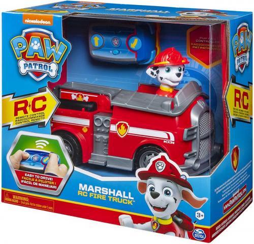 Patrula catelusilor marshall si masina de pompieri radiocomandata - Jucarii copilasi - Jucarii din plus
