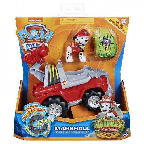 Patrula catelusilor set vehicul cu catelus marshall si figurina dino surpriza - Jucarii copilasi - Avioane jucarie