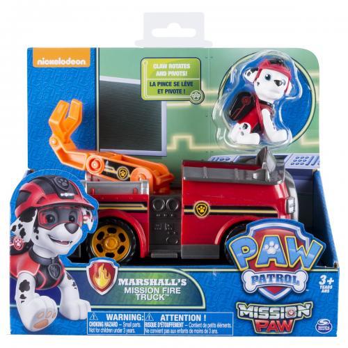 Patrula catelusilor set vehicul cu figurina marshall - Jucarii copilasi - Figurine pop