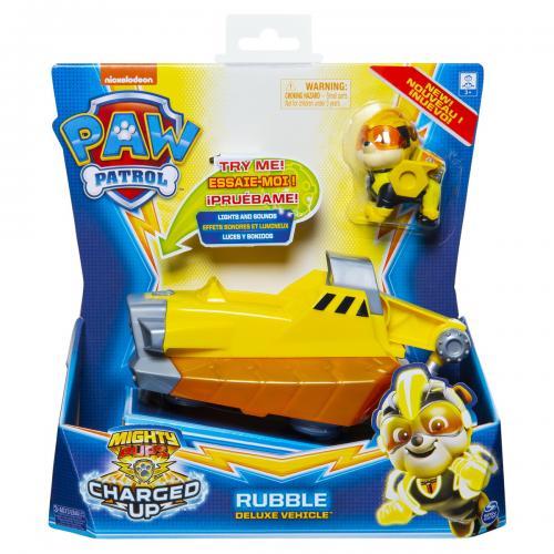 Patrula catelusilor vehicul cu figurina rubble sunete si lumini - Jucarii copilasi - Figurine pop