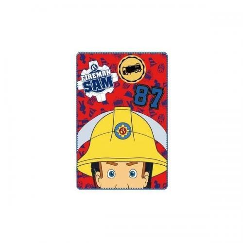 Paturica copii Pompierul Sam 100 x 150 cm SunCity SHS4256 - Camera bebelusului - Lenjerii patut