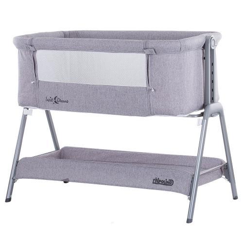 Patut Co-Sleeper Chipolino Sweet Dreams grey - Camera bebelusului - Patut pliabil