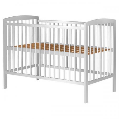 Patut Copii Din Lemn Anzel 120x60 Cm Alb - Camera bebelusului - Patut copii