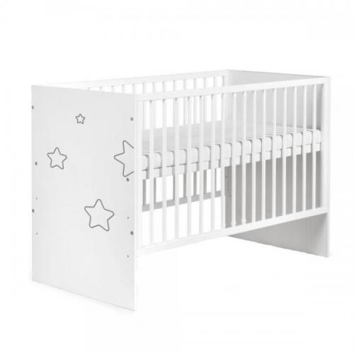 Patut Copii Din Lemn KLUPS TINO Alb - Camera bebelusului - Patut copii