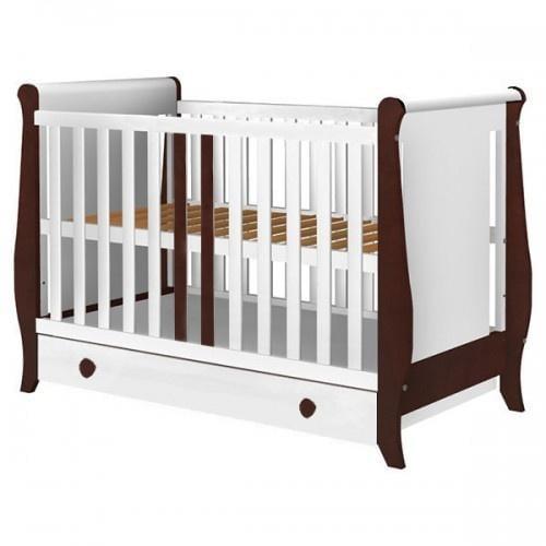 Patut Copii Din Lemn Mira 120x60 Cm Alb-venghe Cu Sertar - Camera bebelusului - Patut copii