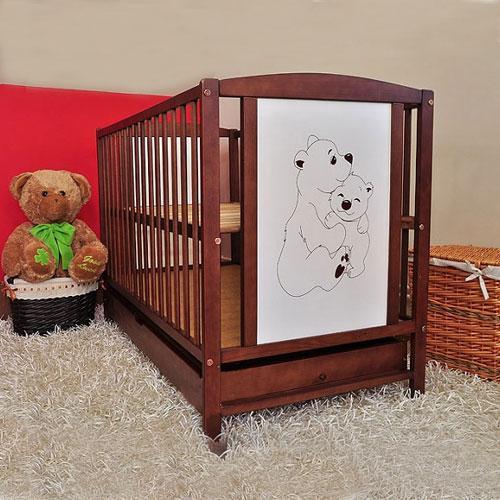 Patut Din Lemn Bear - Camera bebelusului - Patut copii