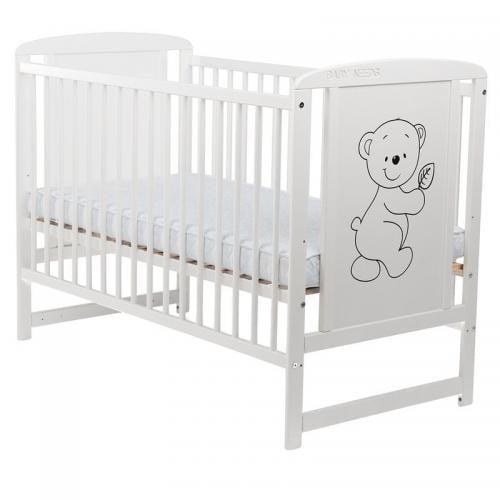 Patut din lemn Timmi 120x60 cm Alb - Camera bebelusului - Patut copii