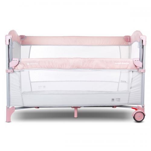 Patut pliabil sun baby 005 cu laterala culisanta pink - Camera bebelusului - Patut copii