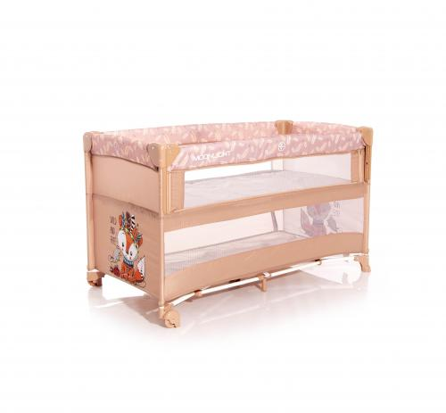 Patut pliabil - up and down - laterala culisanta - beige foxy - Camera bebelusului - Patut pliabil