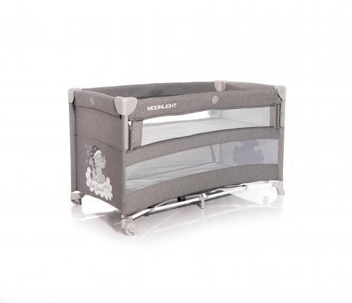 Patut pliabil - up and down - laterala culisanta - grey luxe - Camera bebelusului - Patut pliabil