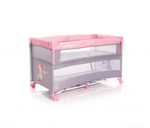 Patut pliabil - up and down - laterala culisanta - pink travelling - Camera bebelusului - Patut pliabil