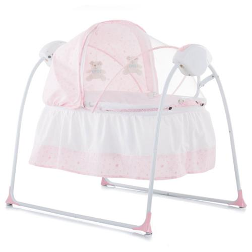 Patut si leagan electric Chipolino Rock-a-bye pink - Camera bebelusului - Leagane si balansoare