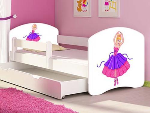 Patut Tineret MyKids Ballerina cu Sertar si Saltea MyKids 140x70 - Camera bebelusului -