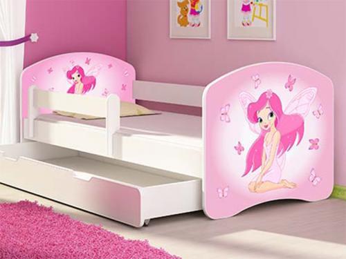 Patut Tineret MyKids Fairy cu Sertar si Saltea 140x70 - Camera bebelusului -
