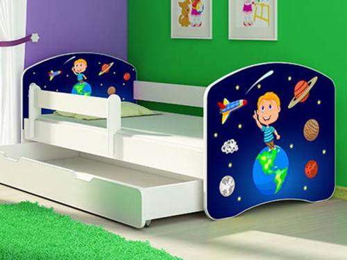 Patut Tineret MyKids Solar System cu Sertar si Saltea 140x70 - Camera bebelusului -
