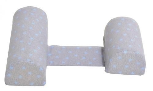 Perna anti-rasucire si pozitionare bebelusi Blue Stars Grey - Perna bebelusi -