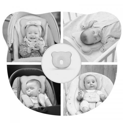 Perna bebelusi contra plagiocefaliei din spuma Memory Osito Olmitos Alb - Camera bebelusului - Accesorii patuturi