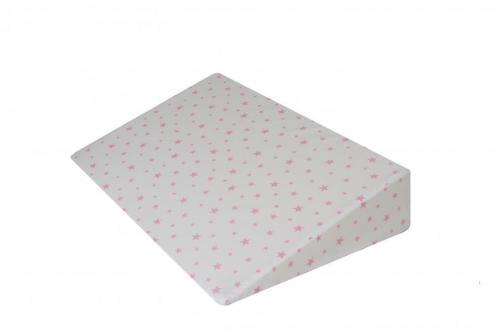 Perna plan inclinat multifunctionala Pink Stars White - Perna bebelusi -