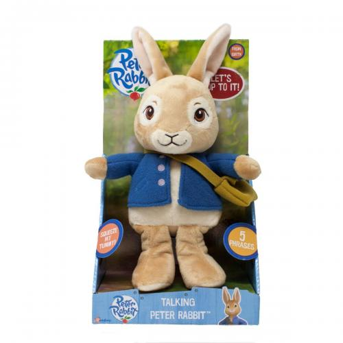 Peter rabbit | jucarie vorbitoare din plus - 24 cm - Jucarii copilasi - Jucarii din plus